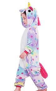 Dětské Pyžama Kigurumi Unicorn Létající kůň Poník Pyžamo Onesie Fanila Kumaş Duhová / Modrá / Růžová Cosplay Pro Chlapci a dívky Animal Sleepwear Karikatura Festival / Svátek Kostýmy