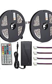 ZDM® 150 светодиоды 2x 5M Светодиодная полоса 1 адаптер 12V 6A 1 пульт дистанционного управления 44Keys 4 разъема RGB Можно резать