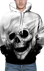 Ανδρικά Φαρδιά Παντελόνι - 3D / Νεκροκεφαλές Στάμπα Μαύρο / Με Κουκούλα / Μακρυμάνικο / Φθινόπωρο / Χειμώνας