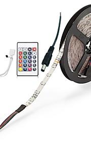 ZDM® 300 светодиоды Светодиодная лента 5M 1 пульт дистанционного управления 24Keys 1 кабель переменного тока RGB Можно резать