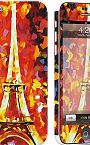 1 pezzo Autoadesivo della Pelle per Anti-graffi Torre Eiffel A fantasia PVC iPhone 5c