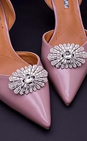 2pcs Rhinestones Decorative Accent Women's All Seasons Wedding Vacation Silver