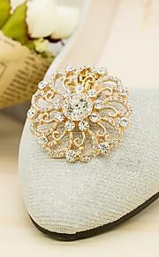 2pcs Rhinestones Decorative Accent Women's All Seasons Wedding Vacation Gold Silver