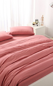 Duvet Cover Sets Solid 3 Piece Poly/Cotton 100% Cotton Reactive Print Poly/Cotton 100% Cotton 1pc Duvet Cover 1pc Sham 1pc Flat Sheet