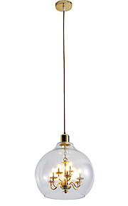 ZHISHU Chandelier Pendant Light Ambient Light - Adjustable, Nature Inspired Chic & Modern, 110-120V 220-240V, Warm White White, Bulb