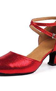 Mujer Moderno Semicuero Sandalia Al aire libre Profesional Tacón Bajo Dorado Negro Plata Rojo Personalizables