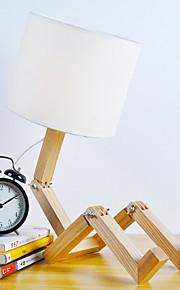 Artístico Ajustable Lámpara de Mesa Para Madera / Bambú Blanco