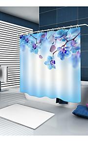 シャワーカーテン&フック カジュアル 田園風 ポリエステル 現代風 ノベルティ柄 機械製 防水 浴室