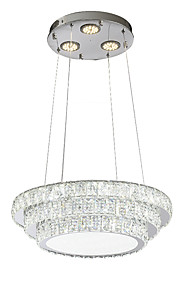 ZHISHU Chandelier Downlight - Crystal Multi-shade Mini Style, Nature Inspired Chic & Modern, 220-240V, Warm White+White, Bulb Included