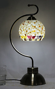 Decorativa Lámpara de Mesa Para Metal 220-240V Blanco Negro Plata