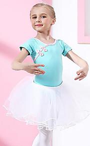 Ballet Accesorios Chica Entrenamiento Rendimiento Algodón Encaje Manga Corta Cintura Media Faldas Leotardo / Pijama Mono