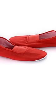 Chica Ballet Tela Plano Interior Entrenamiento Tacón Plano Blanco Rojo Personalizables