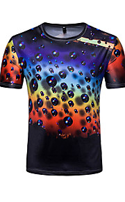T-shirt Per uomo Attivo Essenziale A pois Monocolore