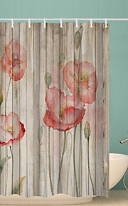 シャワーカーテン&フック クラシック ポリエステル ノベルティ柄 機械製 防水 浴室