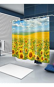 シャワーカーテン&フック カジュアル 田園風 ポリエステル ソリッド 現代風 機械製 防水 浴室