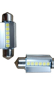 2pcs 39mm Bil Elpærer 6W 600lm 6 LED Indvendige Lights For Audi / Honda / Hyundai ML400 / GLE320 / GLA220 2018 / 2017 / 2016