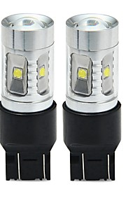 SENCART T20 (7440,7443) Bil / Motercykel Elpærer 30W SMD LED 1800-2100lm 6 LED Blinklys For Universel Alle år