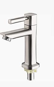 バスルームのシンクの蛇口 - 滝状吐水タイプ ブラシ センターセット シングルハンドルつの穴