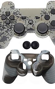 Trådløs Case Protector / Game Controllers Til Sony PS3, Bluetooth Bærbar Case Protector / Game Controllers Silikone / ABS 1pcs enhed USB