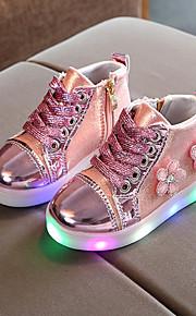 Tyttöjen PU Bootsit Taapero (9m-4ys) / Pikkulapset (4-7 vuotta) Nilkkuri / Välkkyvät kengät Ketjuilla / Solmittavat / LED Kulta / Hopea / Pinkki 봄 & Syksy / Kevät kesä / Nilkkurit / Polyuretaani