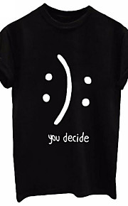 男性用 Tシャツ ラウンドネック レタード / 半袖