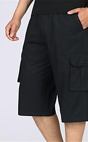 Муж. Классический Чино / Шорты / Брюки-карго Брюки - Однотонный Черный