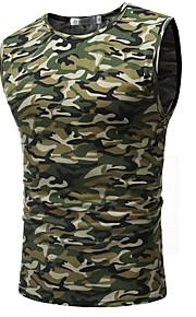Canotte - Taglie forti Per uomo Sport Militare Camouflage Rotonda Arcobaleno XL / Senza maniche / Taglia piccola