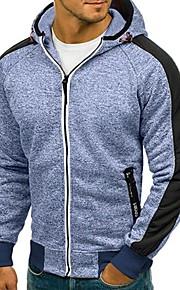 Hombre Básico Pantalones - Un Color Gris Oscuro / Con Capucha / Deportes / Manga Larga / Otoño / Invierno