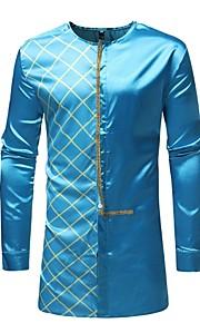 男性用 シャツ ベーシック 幾何学模様 / 長袖