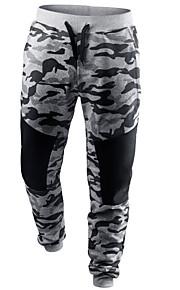 Ανδρικά Κομψό στυλ street Λεπτό Αθλητικές Φόρμες Παντελόνι - καμουφλάζ Μαύρο