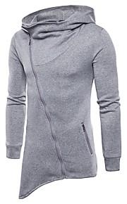男性用 ベーシック パンツ - ソリッド ブラック / フード付き / 長袖 / 冬