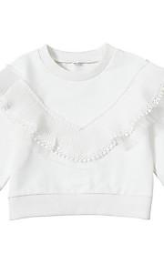 648d2ed46b0 34 Μωρό Κοριτσίστικα Βασικό Μονόχρωμο Μακρυμάνικο Ακρυλικό / Πολυεστέρας  Μπλούζα με Κουκούλα & Φούτερ Λευκό / Νήπιο