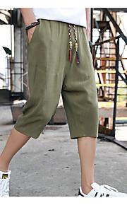 男性用 アジア人サイズ ショーツ パンツ - ソリッド グレー