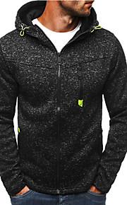 Hombre Activo / Básico Sudadera / La chaqueta con capucha - Separado, A Lunares
