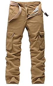 男性用 ベーシック プラスサイズ チノパン / カーゴパンツ パンツ - ソリッド グレー
