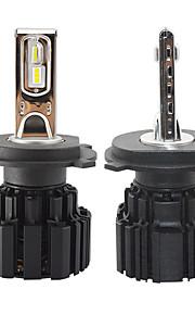 2pcs H4 차 전구 50 W CSP 6800 lm 12 LED 헤드램프 제품 유니버셜 모든 년도