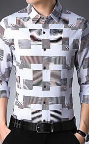 男性用 パッチワーク シャツ ベーシック 幾何学模様