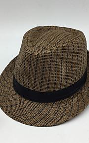 男性用 ベーシック ソリッド 麦わら帽