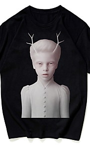 男性用 Tシャツ ラウンドネック ポートレート / 半袖