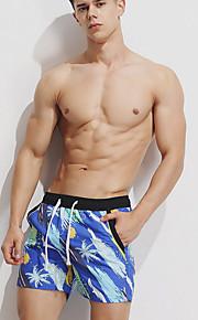 男性用 ストリートファッション アジア人サイズ ショーツ パンツ - 幾何学模様 ブルー / ビーチ
