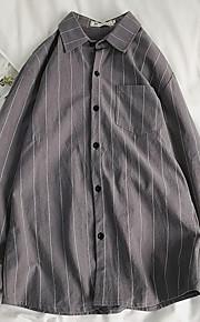 メンズシャツ - ストライプシャツカラー