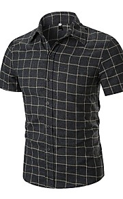 男性用 EU / USサイズ シャツ レギュラーカラー チェック