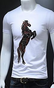 メンズTシャツ - アニマルラウンドネック