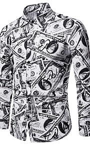 男性用 プリント シャツ ストリートファッション 幾何学模様