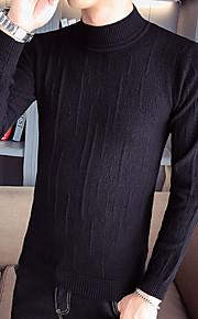 Муж. Однотонный Пуловер Осень Красный / Светло-зеленый / Хаки L / XL / XXL