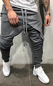 男性用 ベーシック チノパン / スウェットパンツ パンツ - ソリッド ブラック