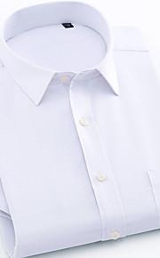 メンズプラスサイズのリネンシャツ - ソリッドカラーのクラシックカラー