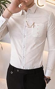 メンズスリムシャツ - ソリッドカラーのクラシックカラー