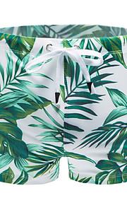 Hombre Verde Trébol Pantalones de bañador Partes Inferiores Bañadores - Floral XL XXL XXXL Verde Trébol