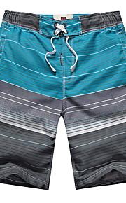 男性用 ブルー スイミングトランクス ボトムス スイムウェア - カラーブロック XXXL ブルー